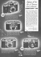 Century 35 Cameras by Graflex 1959 Ad Picture
