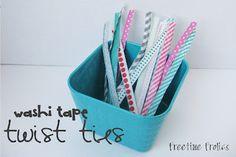 Washi Tape twist ties. Adorable!