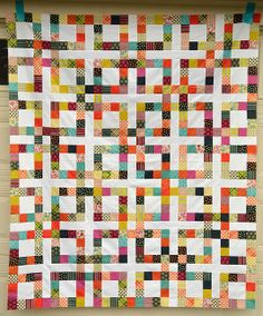 Lucky Square quilt top by Jessica at Sew Crafty Jess - maybe good to do with my chicopee jelly roll