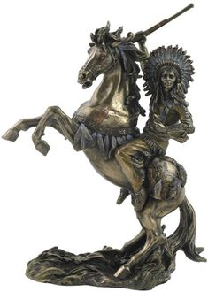 Sioux Chief on Horseback Statue available at AllSculptures.com