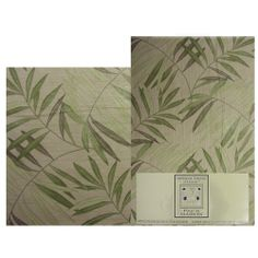 Ratan Table Cloth and Place mats. Contemporary bamboo motif kitchen table cloth featuring tones of green and taupe marry to flatter any décor. www.edslinens.com Place Mats, Bath Accessories, Bedding Collections, Taupe, Bamboo, Tapestry, Contemporary, Green, Kitchen