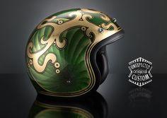 custom motobike helmet chopper