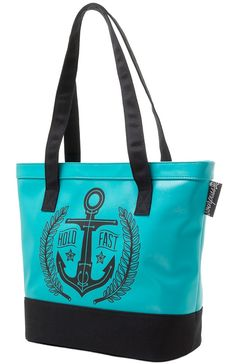 SOURPUSS HOLD FAST VINYL TOTE BAG