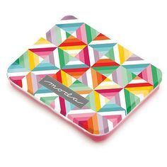 Tin with Multi-Colored String Blocks