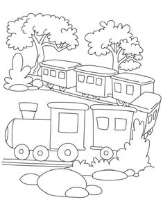 Train color page transportation coloring pages, color plate ...