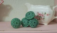 Items similar to 8 Cast Iron Green Knobs-Dresser Knobs-Vintage Inspired on Etsy