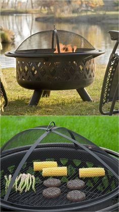 24 Best Fire Pit Ideas to DIY or Buy ( Lots of Pro Tips! ) 24 Best Fire Pit Ideas to DIY or Buy Sitting around an outdoor fire pit with loved ones, gazing at the warm flames under the starry night sk Outside Fire Pits, Cool Fire Pits, Diy Fire Pit, Garden Fire Pit, Fire Pit Backyard, Backyard Seating, In Ground Fire Pit, Fire Pit Party, Fire Pit Grill