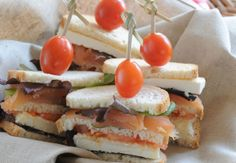 Club sandwich saumon-chèvre