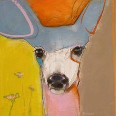 Animal Paintings, Animal Drawings, Art Drawings, Abstract Animals, Abstract Art, Art Studies, Dog Art, Painting Inspiration, Collage Art