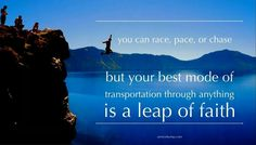 Race, pace or chase...
