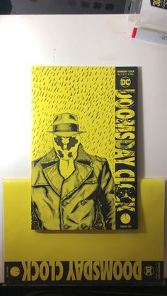on a Doomsday Clock cover , a tribute I did to Rorschach . Doomsday Clock, Scribble, My Drawings, Watches For Men, Sketch, Cover, Books, Art, Sketch Drawing