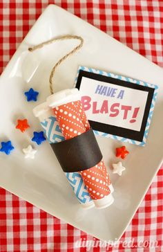 A fun idea for your 4th of July celebration! Patriotic Party Favors from @Dinah Welch Wulf {DIY Inspired} #independenceday #partyideas
