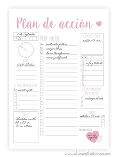 Plan diario ok 😍 To Do Planner, Agenda Planner, Happy Planner, Bullet Journal School, Bullet Journal Inspiration, Printable Planner, Planner Stickers, Printables, Bujo