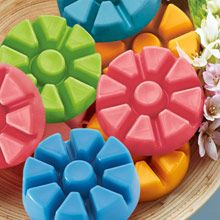 Enjoy hours of fragrance from our most highly scented Melts. Use in our ScentGlow® or Fragrance Warmers, sold separately. Available in all of PartyLite's exclusive fragrances. Create a custom fragrance with two different Melts. Each tray snaps into nine Melts.