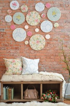 Embroidery Hoop Art-with ADK fabric-bedroom?