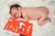 South Florida, newborn portraits, natural light, books