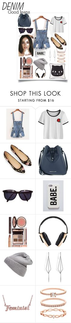 """Sem titulo #57"" by sophy-b ❤ liked on Polyvore featuring Armani Jeans, Sonia Rykiel, Charlotte Tilbury, Pryma, UGG Australia, Diane Kordas, me you, Accessorize and distresseddenim"