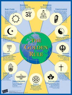 There is a version of Golden rule in every religion. Is the Golden Rule the panacea of the best human interaction? Does the Platinum Rule, attributed to Dave Kerpen, trumps the Golden Rule? To that I may ask, does the 'Diamond Rule' trump both of them? Grands Philosophes, Religious Education, Religious Symbols, Religious Studies, Religious People, Special Education, World Religions, Judaism, Christianity