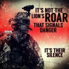Seek not the roar... but fear the silence of your enemy ~@guntotingkafir