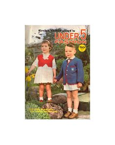 Enid Gilchrist's Under 5 Fashion - Drafting Book - Instant Download PDF 48 pages Pdf Patterns, Craft Patterns, Vintage Patterns, 1990s, Knitting, Books, Fashion, Moda, Libros