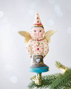 """The Spirit of Good Cheer"" Clip Christmas Ornament by Debbee Thibault at Neiman Marcus.  These are sold out and only available at Neiman Marcus online."