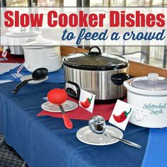 Easy Slow Cooker Dishes to Feed a Crowd via @SidetrackSarah