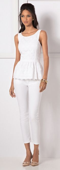 beautiful peplum top http://rstyle.me/n/nv3v5pdpe