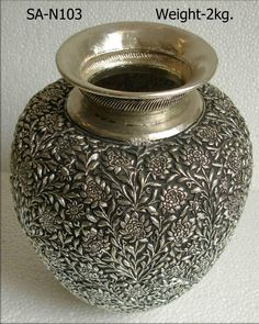 Antique Lamps, Antique Metal, Antique Silver, Silver Jewellery Indian, Silver Jewelry, Yellow Tea Cups, Happy Anniversary Cakes, Silver Pooja Items, Jewel Tone Wedding
