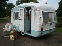 Vintage 1970s Caravan, Viking Fibreline 2 Berth Rare, Restored, Cath Kidston