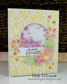 Wizard's Hangout: Birthday Shaker Card