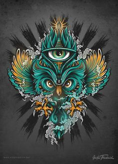 Owl Poster by Mike Friedrich.