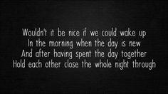 The Beach Boys - Wouldn't It Be Nice (Lyrics/HQ)