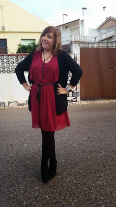 Mary's Big Closet: Burgundy Dress