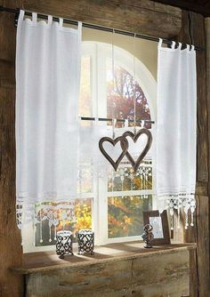 Curtains Living Room With Curtain Shabby Villa Unique Villa Curtains Kitchen Fastarticlemarketing - Gardinen ideen Curtains Living, Kitchen Curtains, Cute Curtains, Grey Kitchen Designs, Shabby Chic Kitchen, Curtain Designs, Window Coverings, Rustic Style, Home Art