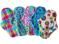 Sets of 5  9 1/2 Cozy Flannel/Minky Cloth Pads by JuliansBoutique
