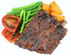 Soy Glazed Baby Back Ribs - Braised baby back ribs, ginger soy glaze ...