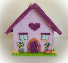 La mia craft room: Tutorial casa in feltro ferma porta o porta oggetti