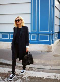 Un look d'automne all black