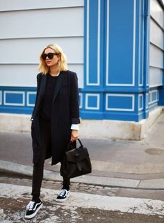 Un look d'automne all black