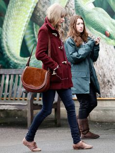 "Taylor Swift's ""Red"" Toggle Coat! I have a hunter green coat from L.L.Bean  bought at goodwill"