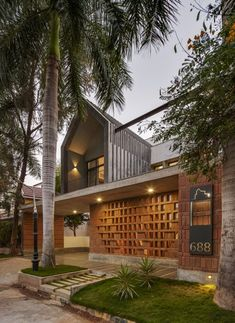 A Verandah And Courtyards weaving Cuckoo's Nest | Between Spaces - The Architects Diary Facade Architecture, Residential Architecture, Terrace Floor, Small Loft, Pooja Rooms, Brick Patterns, Modern House Design, White Walls, Home Interior Design