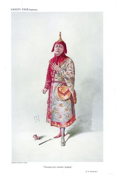 Through every passion raging (1910), caricature by Sir Luke Fildes (1843-1927), of Charles Workman (1873-1923) as Jack Point, in The Yeomen of the Guard (1888), by Sir Arthur Sullivan (1842-1900).
