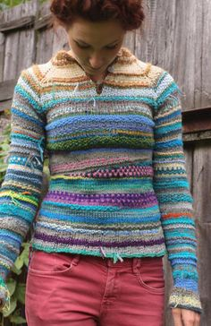 Handmade bright and colorful women sweater by TASSSHA on Etsy
