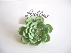 Wedding Succulent Place Card Holder Wedding Favor Flower Place Card Escort Card wedding decorationSet of 10 Made to Order by parsi on Etsy https://www.etsy.com/listing/183040556/wedding-succulent-place-card-holder