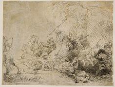 Rembrandt Van Rijn. The great Lion Hunt.