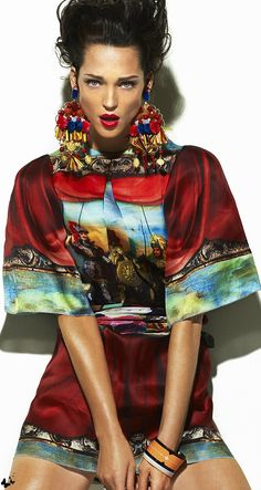 Dolce & Gabbana 2013 Carla Crombie for L'Officiel Maroc