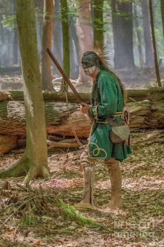 Passing Through Cook Forest -  American indian reenactment