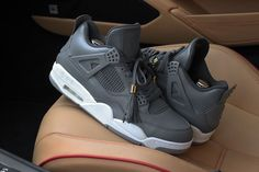 Once again pulling cues from the Louis Vuitton Don, Dank styled the Air Jordan 4 in the 'Anthracite' colorway. The shoe features a grey-on-grey upper, complete with Louis Vuitton tongue tagging. Grey and gold tassels carry over the Don's luxury appeal.