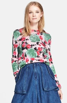LOVE.  MARC BY MARC JACOBS 'Jerrie Rose' Floral Print Crewneck Sweatshirt available at #Nordstrom
