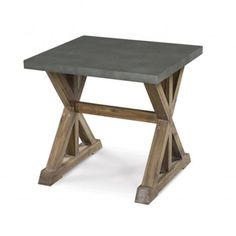 Lybrook Zinc-topped X-frame End Table | Overstock.com Shopping - Great Deals on Magnussen Home Furnishings Coffee, Sofa & End Tables